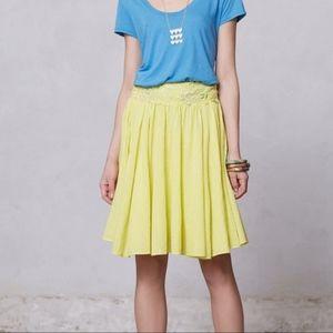 ANTHROPOLOGIE | floreat stellina appliqué skirt